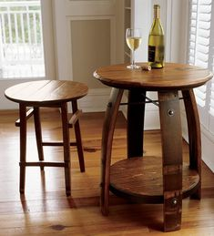 Just found this Wine Barrel Furniture - Wine Barrel Stave Table -- Orvis on Orvis.com!
