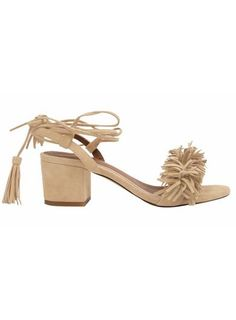 POM POM Tassel and Fringe Sandals - 5 cm