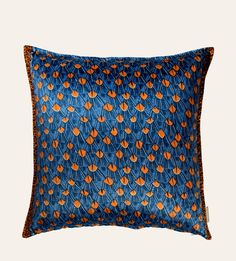 Feathers Royal Velvet Cushion  60x60cm cushion in River Chase Royal Velvet. Double-sided print on velvet.