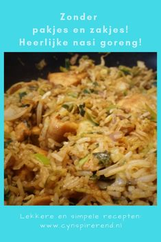 Nasi Goreng, Healthy Slow Cooker, Healthy Low Carb Recipes, Asian Recipes, Ethnic Recipes, Caribbean Recipes, Indonesian Food, Wok, Quick Easy Meals