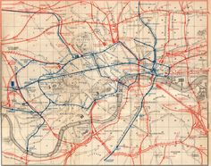 Baedekers Old Guide Books - London (Railway Map), England.