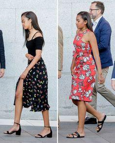 Sasha and Malia Obama's Best Fashion Looks - Style Evolution of Sasha Obama and Malia Obama Michelle Obama Flotus, Barack And Michelle, Barack Obama Family, Malia Obama, Obama Daughter, First Daughter, Joe Biden, Durham, Malia And Sasha