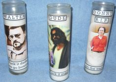 The Big Lebowski custom alter candle set by on Etsy Bowling Party, The Big Lebowski, Candle Set, Alters, Crafty, Bath Time, Nerd Stuff, Handmade Gifts, Beer