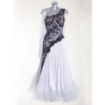 348009 Black and White Ballroom Dress