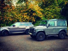 Mine and my brother's cars Landrover Defender, Defenders, Range Rover, Cars, Vehicles, Autos, Car, Car, Range Rovers