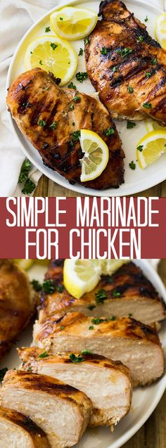 This Simple Marinade for Chicken is perfect for grilling season! It's super easy to make and adds tons of flavor! This Simple Marinade for Chicken is perfect for grilling season! It's super easy to make and adds tons of flavor! Quick Chicken Marinade, Chicken Marinades, Grilled Chicken Recipes, Easy Chicken Seasoning, Chicken Kebab, Grilled Meat, Healthy Chicken, Grilling Recipes, Beef Recipes