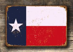 TEXAS State flag metal sign Vintage style Texas Flag Sign, Composite Aluminum Texas Flag Sign Texas State Flag SHIPS WORLDWIDE