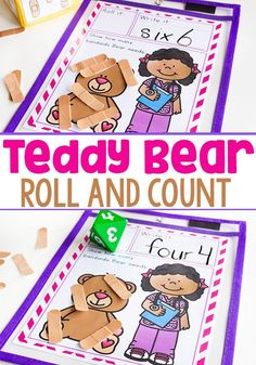 Kids Will Love This Nurse Themed Roll and Count Math Game!