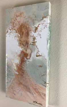Excited to share the latest addition to my #etsy shop: Fluid acrylic art, abstract angel painting, rose gold abstract, pink and gold abstract, resin art, nursey decor, nursery wall art