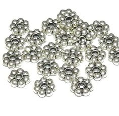 200pcs 4mm Antique Silver Daisy Spacer Beads Or CHOOSE BRIGHT Silver,Gold, Bronze HEISHI Rondelles Diy Jewelry Making Free Combined Shippin