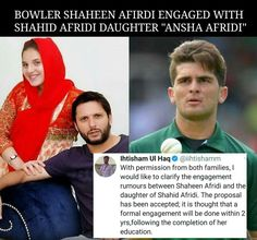 Click on Visit for Video - Full Video on Youtube Shahid Afridi, Video Full, Proposal, Daughter, Thoughts, Engagement, Youtube, Engagements