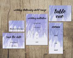 Violet Wedding Collection www.etsy.com/uk/shop/PippinPrints