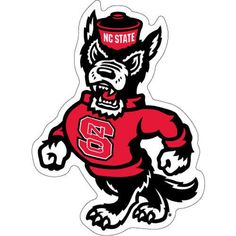 NC State Wolfpack Strutting Wolf Vinyl Decal