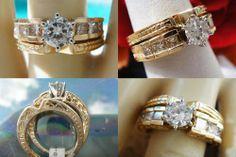 1CT Round Brilliant Diamond Engagement Ring/Band