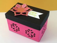 Hot Pink and Black Gift Box - Eastern Palace Week, Video Tutorial - New from Stampin' Up - YouTube
