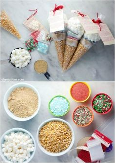 Popcorn ball kits are perfect for stocking stuffers, classroom parties or paired with a gift card. More DIY Christmas Gift Ideas on Frugal Coupon Living #diygifts #diychristmasgift #giftideas #christmas  #christmasgifts #homemadegifts