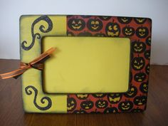 4 x 6 Halloween Picture Frame/ Ready To by TwoPreciousCreations, $15.00
