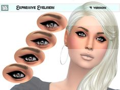 This is my first Lipstick set for sims 4.  Found in TSR Category 'Sims 4 Female Eyeliner'