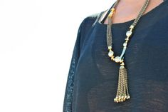 Stella and Dot tassle necklace. Love.