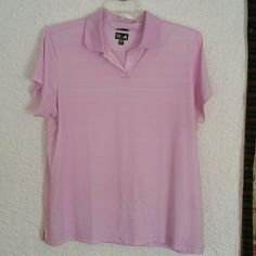 Adidas climacool light pink polo Adidas polo, worn once! Has small barely visible stain see last picture. Adidas Tops Tees - Short Sleeve