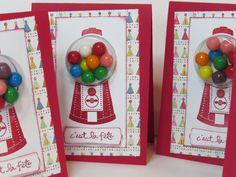 Carte de voeux, carte de fête, carte enfant «Boules de gommes» Stampin' Up! de la boutique Lamainalacarte sur Etsy