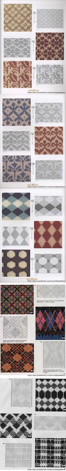 disegni jacquard You can knit one shade and purl the other shade Fair Isle Knitting Patterns, Knitting Stiches, Knitting Charts, Knitting Designs, Knit Patterns, Hand Knitting, Stitch Patterns, Easy Patterns, Knitting Machine
