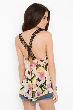 Laced Floral Tank...love the back