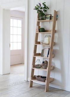 Eikenhouten decoratie ladder | Etagere | Interieur