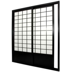 "Oriental Furniture 83"" x 73.5""; Double Sided Sliding Door Room Divider"