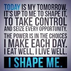 It's time to seize a great opportunity and take control of your life. Learn how you can shape your body and your life by getting in touch with us today #visimotivation