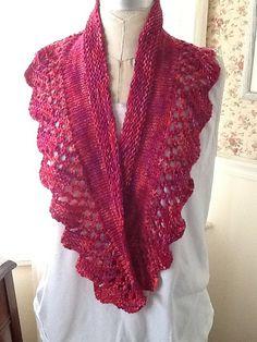 Ravelry: Rose Garden Scarf pattern by Iris Schreier