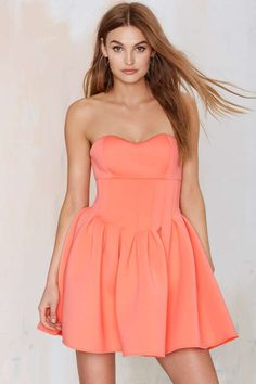 Nasty Gal Sweet Emotion Neoprene Dress - Fit-n-Flare | Going Out | Dresses | Dresses | Clothes | All | Scuba