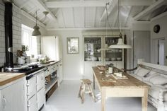 The rustic coastal kitchen