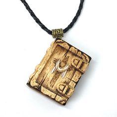 Holy Bible Pendant Cross wooden pyrography pendant