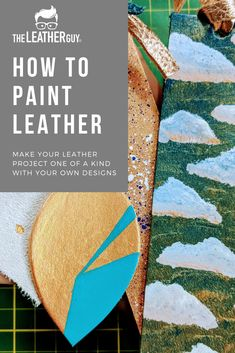 Painting leather is a great way to create patterns and colors you just can't find anywhere else. Check out three different techniques with The Leather Guy to put your stamp on your leather project! Diy Leather Projects, Leather Diy Crafts, Leather Gifts, Leather Jewelry, Handmade Leather, Custom Leather, Vintage Leather, Leather Dye, Sewing Leather