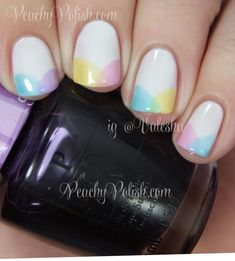 OPI Spring 2014 Sheer Tints Collection on French tips