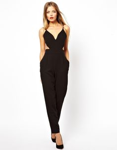 $68.50 Cut out Jumpsuit - perfect for way to mix up your NYE look #sidesmileshops