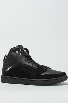 SUPRA The S1W Sneaker in Black Suede Perforated Leather   Karmaloop.com -  Global Concrete 9e3ca5458e