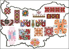types of Bulgarian seamstresses - Stickerei Ideen Embroidery Online, Folk Embroidery, Indian Embroidery, Hand Embroidery Designs, Cross Stitch Embroidery, Embroidery Patterns, Cross Stitch Patterns, Bg Design, Fabric Design