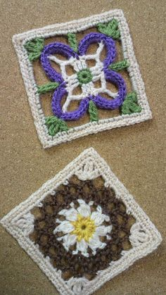 真っ白なキルト21 アカバナの画像 | 野の花手芸噺 çiçekli kare motif örneği