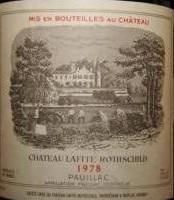 Red 1978 Château Lafite Rothschild