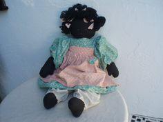 Vintage Primitive Black Art Doll by DollsInARow on Etsy, $22.00