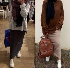 Pinterest: @adarkurdish Modest Fashion Hijab, Modern Hijab Fashion, Modesty Fashion, Casual Hijab Outfit, Hijab Fashion Inspiration, Hijab Chic, Muslim Fashion, Fashion Outfits, Modele Hijab