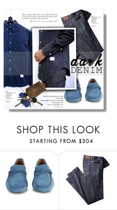 """""""Menswear Essential: Dark Denim"""" by sportsonista ❤ liked on Polyvore featuring Tod's, men's fashion, menswear, darkdenim and menswearessential"""