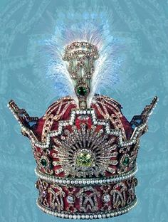 Official crown of the Iranian shahs,    the Pahlavi Crown