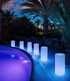 Lámpara cilíndrica de luz con LED de 70cm