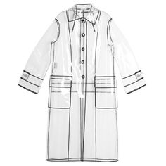 Miu Miu Single-breasted raincoat (118.345 RUB) ❤ liked on Polyvore featuring outerwear, coats, clear, white rain coat, white raincoat, mac coat, clear rain coats and clear coat