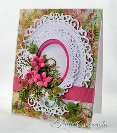 Victorian Floral Oval by kittie747 - Cards and Paper Crafts at Splitcoaststampers