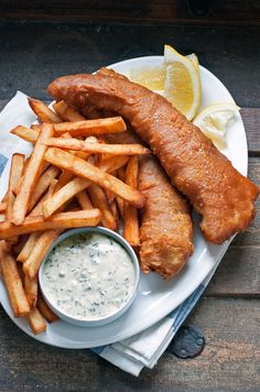 This simple comfort food classic always hits the spot. Serve with my homemade tartar sauce, plenty of lemon wedges and malt vinegar.