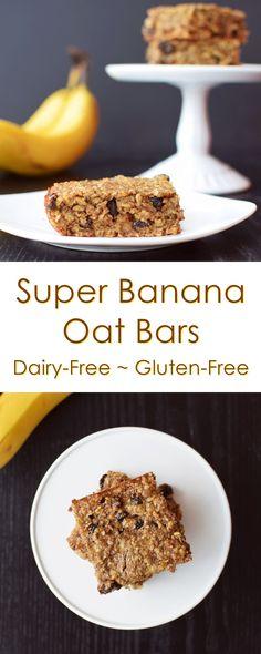 Super Cinnamon Raisin Banana Oat Bars Recipe (dairy-free, gluten-free, healthy)